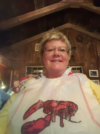 The Whitman House: Have my lobster bib on