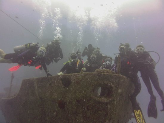 Dive House: Our dive group at the C-53 shipwreck