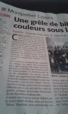 Teyran, France : A même bénéficié d'un article dans le journal !