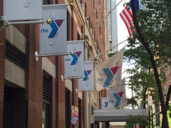 The Vanderbilt YMCA: You can't miss it on 47th at 2nd. The flags lead the way.