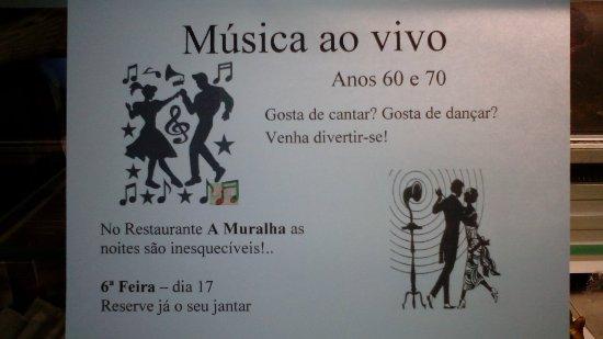 Divirta-se ao ritmo da música dos anos 60 e 70. No Restaurante A Muralha a satisfação dos nossos