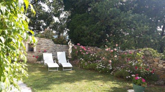 Chantemerle-les-Grignan, Francia: Garten vor dem Zimmer