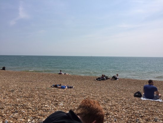 Brighton Beach: The rocky beach and the English Channel--great combo!