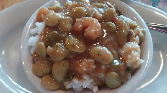 Lutcher, LA: Butter beans with shrimp and rice.