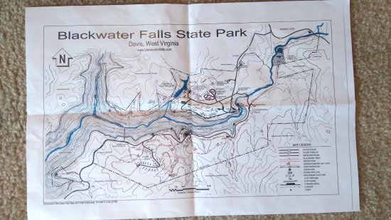 Blackwater Falls State Park Map Picture Of: Blackwater Falls State Park Map At Usa Maps