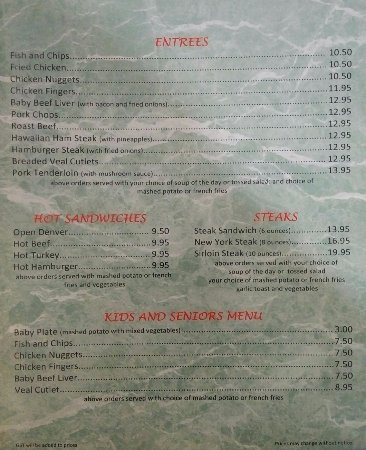 Vermilion, Kanada: page 2 of menu