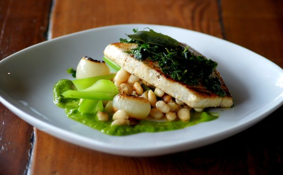 Swordfish & Heirloom Beans