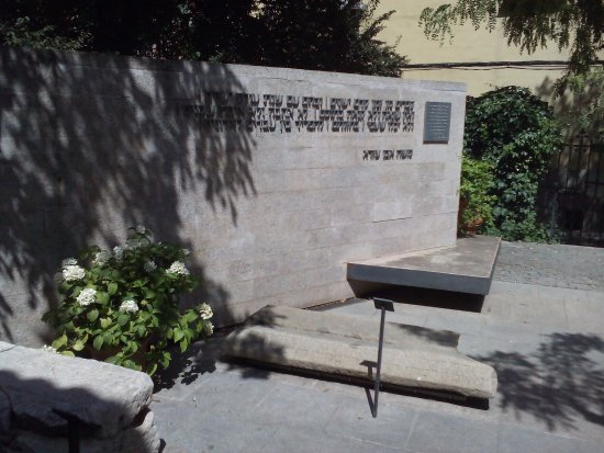 el transito synagogue and sephardic museum garden of memories granite tombstone fragmented into two - Garden Of Memories