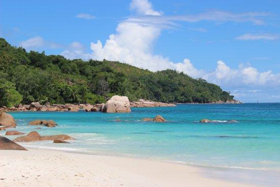 Praslin Island, Seychelles: Anse Lazio relativement calme