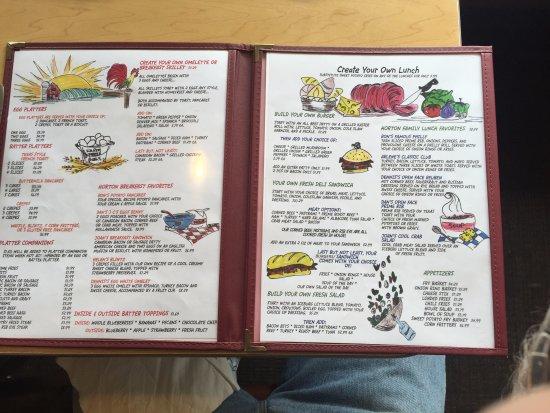 DeWitt, Nowy Jork: menu