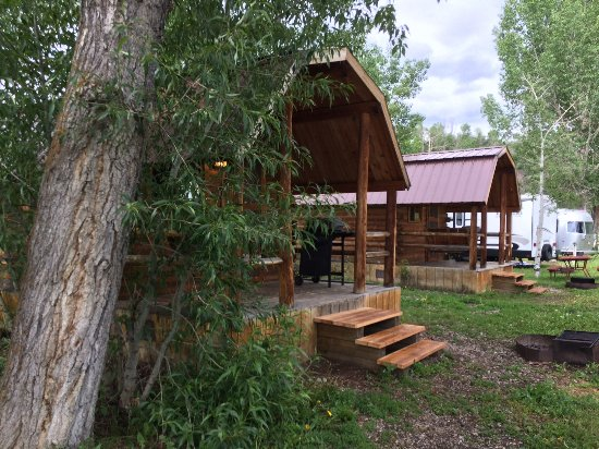 Back side of site area picture of steamboat campground for Cabins in steamboat springs