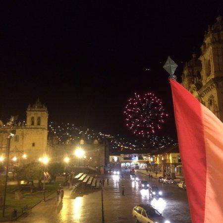 Plaza de Armas Cusco Hotel: vista nocturna desde terraza