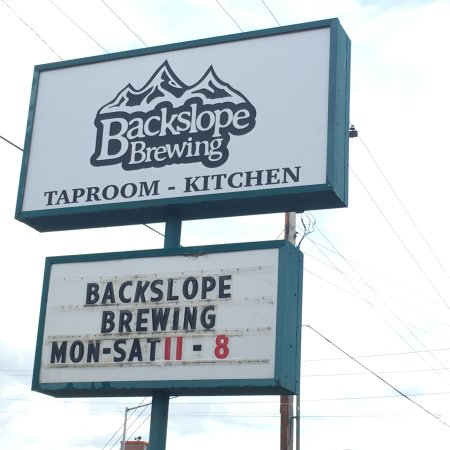 Columbia Falls, MT: Backslope Brewing - View from the road