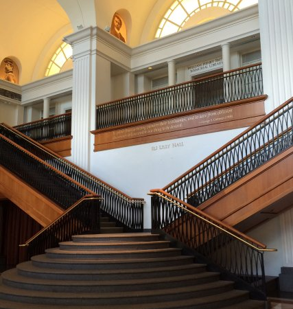 Grand staircase - Picture of Indiana Historical Society