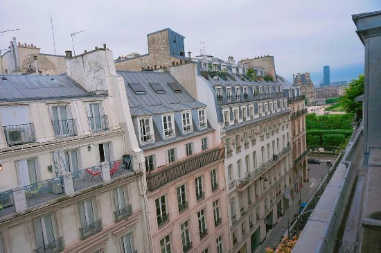 Le Pradey: View from the room - can see Tuiluries Garden