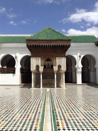 Kairaouine Mosque (Mosque of al-Qarawiyyin): one of the sides