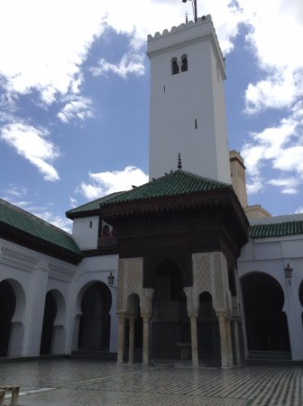 Kairaouine Mosque (Mosque of al-Qarawiyyin): the minaret of the medrasa
