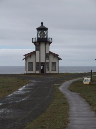 Point Cabrillo Light Station State Historic Park : The lighthouse on a rainy day