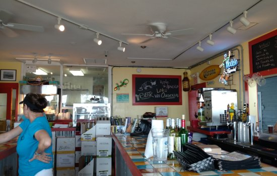 Coastal Cantina : Interior view from bar seating.