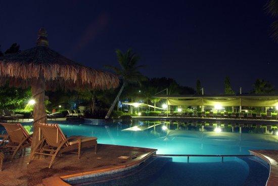 Barka, Oman: Pool by night