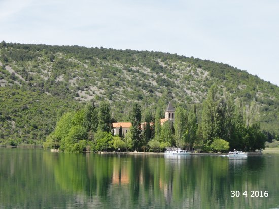 Visovac Monastery : As seen from the dock