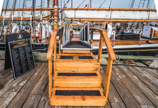 Lunenburg, Canada: Gangplank for the Bluenose II schooner.