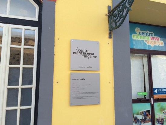 Centro Ciencia Viva do Algarve : Placa do Centro