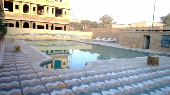 View From The Window The Pool Picture Of Mahadev Palace Jaisalmer Tripadvisor