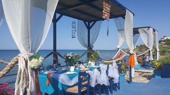 Ammoudi, Greece: wedding party
