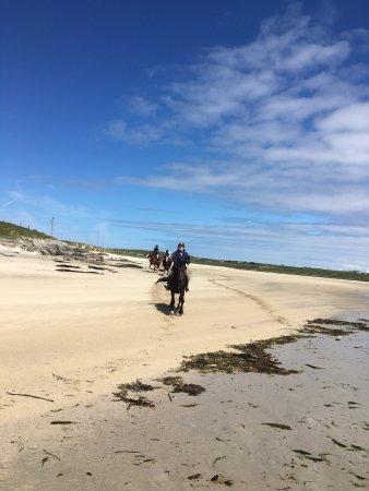 Cleggan Beach Riding Center - Horseback riding on the beach