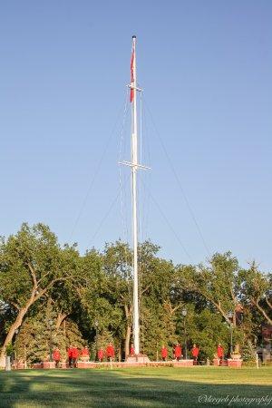 RCMP Heritage Centre: Flag raising ceremony