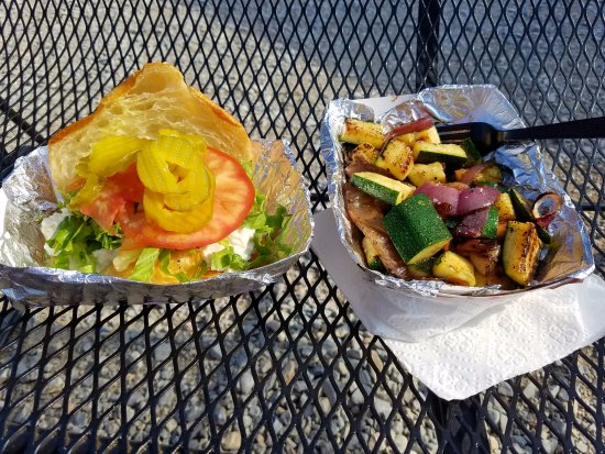 Chicken Salad Sandwich And Grilled Zucchini From Plp Food Truck