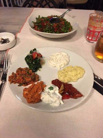 Kosebasi: ask for starter sampler, best choice to get a taste of great starters