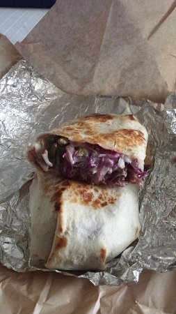 Verona, WI: Southwest beef and bean wrap