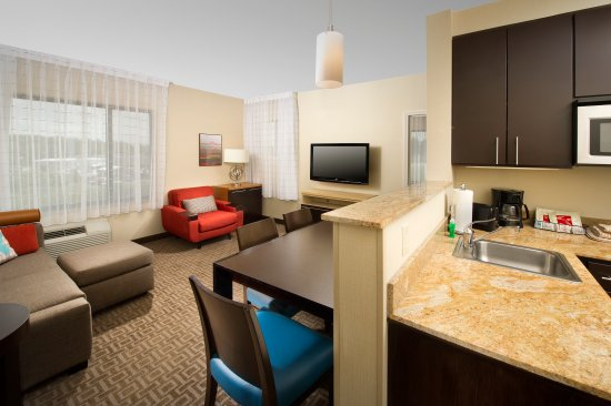 TownePlace Suites Lexington Park Patuxent River Naval Air Station : Two Bedroom Suite Featuring Two Separate Bedrooms, a Living Room with a Sofa Bed. Full Kitchen a
