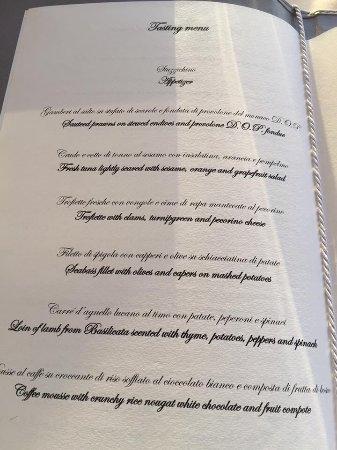 Tasting menu picture of terrazza vittoria sorrento for Terrazza vittoria sorrento