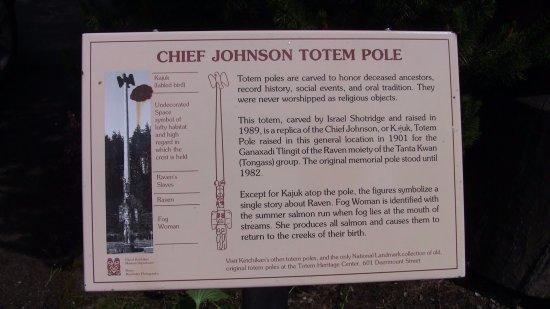 Chief Johnson Totem Pole: Description