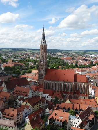 View of Landshut from the castle - Picture of Trausnitz Castle ...