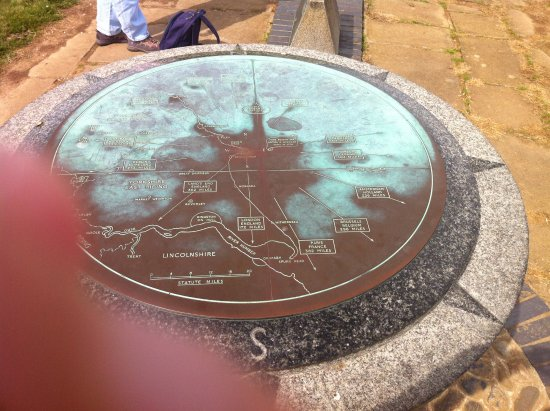 Toposcope commemorating the Naval Battle of Flamborough Head