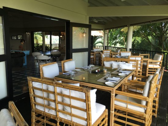 Punta Gorda, Belize: Dining area where the best culinary experience in Central America is found.