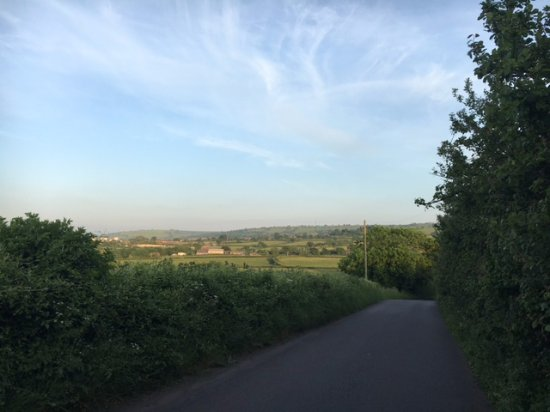 Dundry, UK: View from the road walking back from the pub