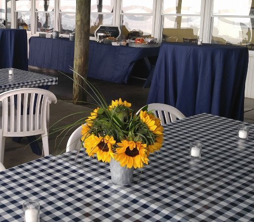 The Masthead at Pier Street: Sunflowers for a Rehearsal Dinner