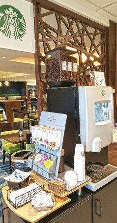Maplewood Suites Extended Stay: On demand Starbucks coffee machine