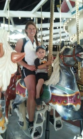 Eldridge Park: Grandson's first carousel ride