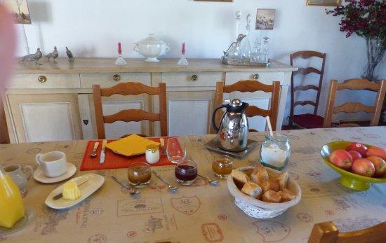 Derby Country: Un aperçu partiel de la table au petit déjeuner !