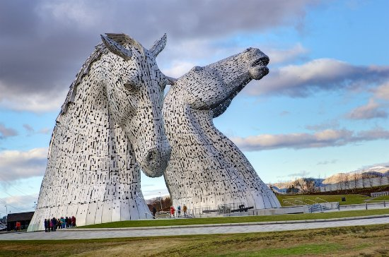 Polmont, UK : The Kelpies, a couple of mile walk from Beancross