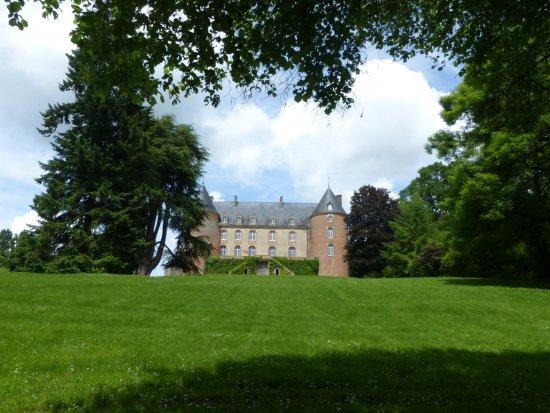 Blancafort, Francia: Le chateau vu du bas du parc