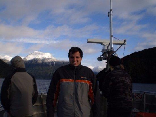 Manapouri, New Zealand: Foto desde el barco.