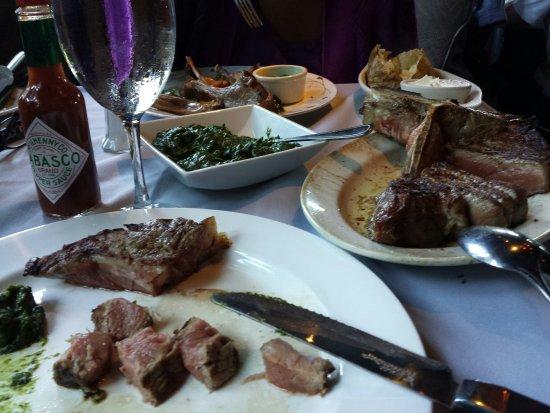 Briarcliff Manor, Nowy Jork: Rack of lamb and steak