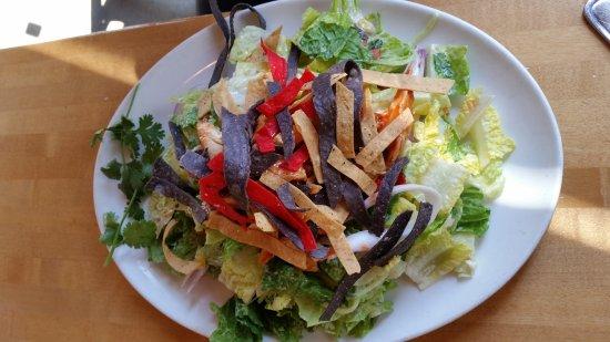 BBQ chicken salad was full of flavor